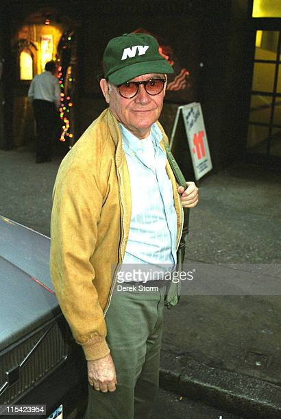 Buck Henry during Buck Henry Exits the Lyceum Theater after Mornings at 7 March 31 2002 at Lyceum Theater in New York City New York United States