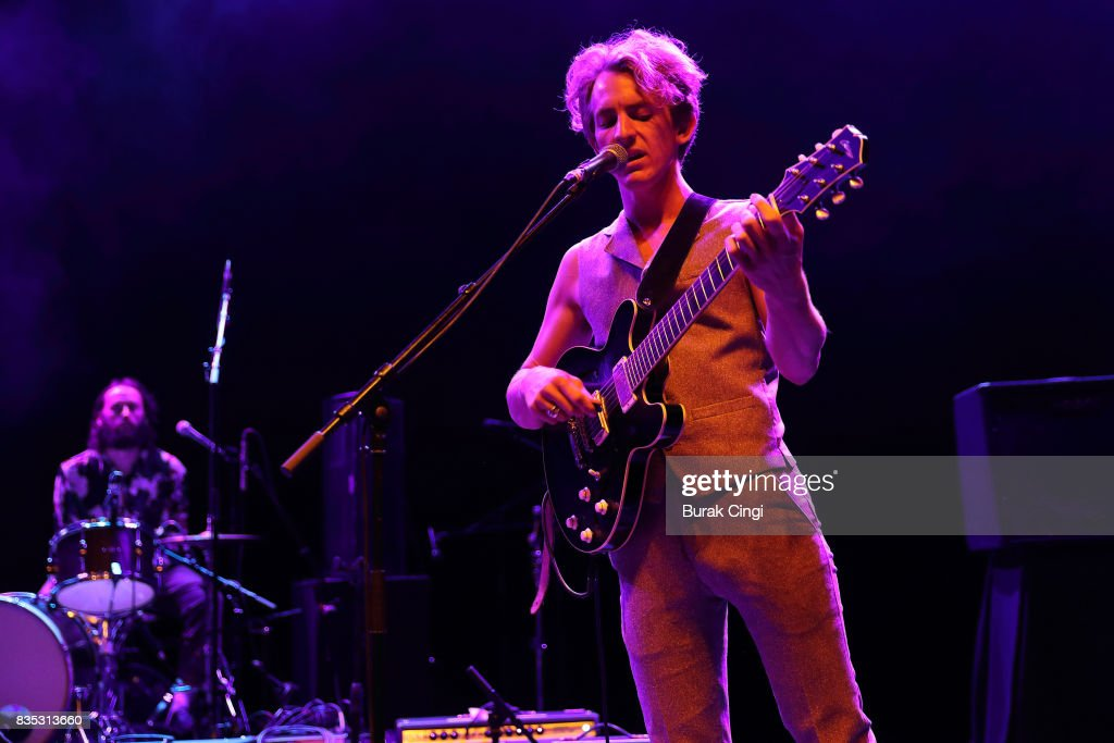 Buck Meek of Big Thief performs at O2 Shepherd's Bush Empire on August 18, 2017 in London, England.