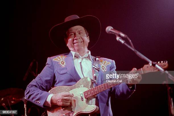 Buck Owens & The Buckarooos performing at the Fillmore Auditorium in San Francisco on June 03 1989