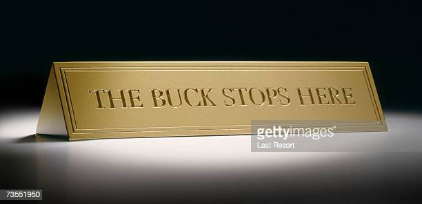 buck stops here paperweight - buck stock photos and pictures