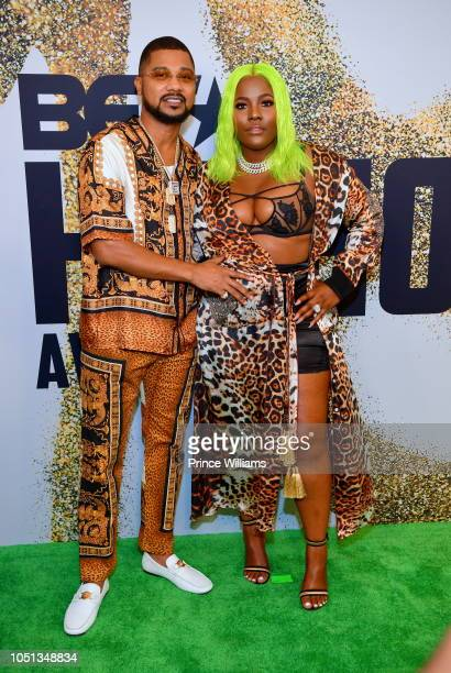 Buck Thomas and PreMadonna arrive at the BET Hip Hop Awards 2018 at Fillmore Miami Beach on October 6 2018 in Miami Beach Florida