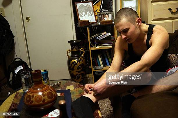 'Buck' who is 23 and addicted to heroin shoots up Suboxone a maintenance drug for opioid dependence that is also highly addictive on February 6 2014...