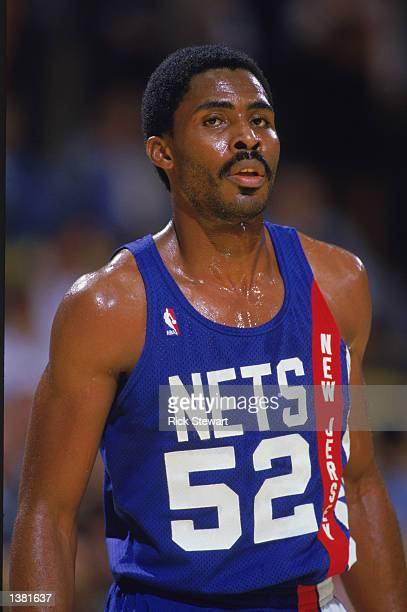 Buck Williams of the New Jersey Nets stands on the court during an NBA game in 1989 NOTE TO USER User expressly acknowledges and agrees that by...