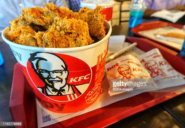 Bucket Chicken at an outlet in City Center shopping mall KFC also known as Kentucky Fried Chicken is an American Fast Food Company that provides...