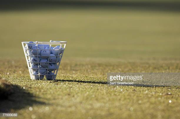 A bucket of balls during the wednesday practice round of the TOUR Championship at East Lake Golf Club in Atlanta Georgia on November 2 2005