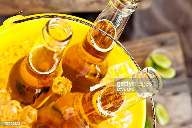 bucket of beer - mexican beer stock pictures, royalty-free photos & images