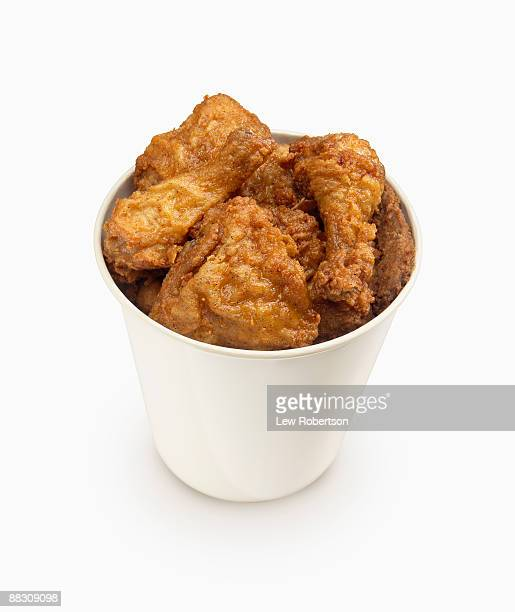 bucket of chicken - fried chicken stock photos and pictures