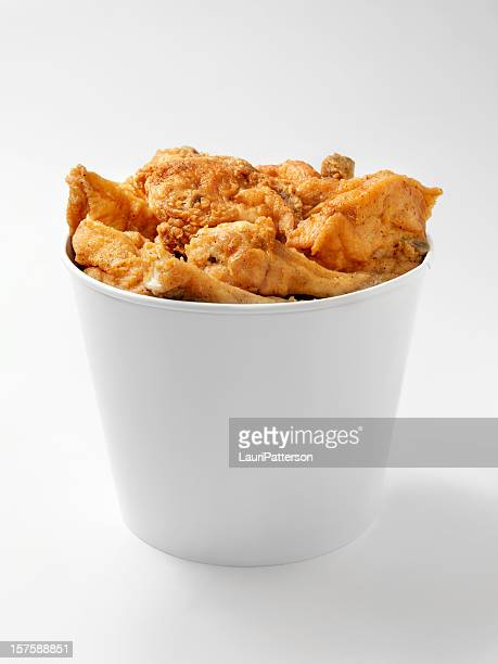 bucket of fried chicken - bucket stock pictures, royalty-free photos & images