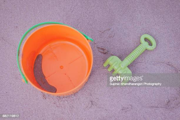 Bucket of fun at the beach