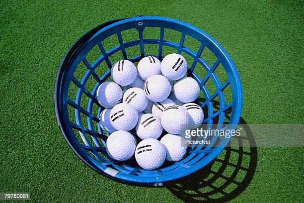 Bucket of Golf Balls for Practice