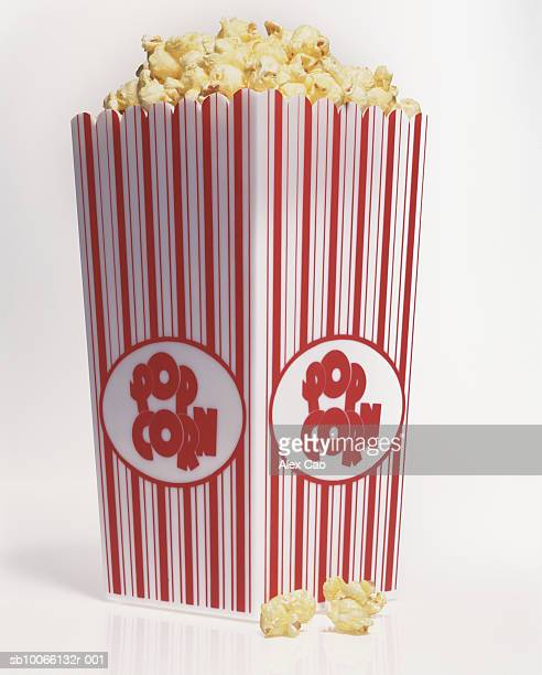 Bucket of popcorn, studio shot
