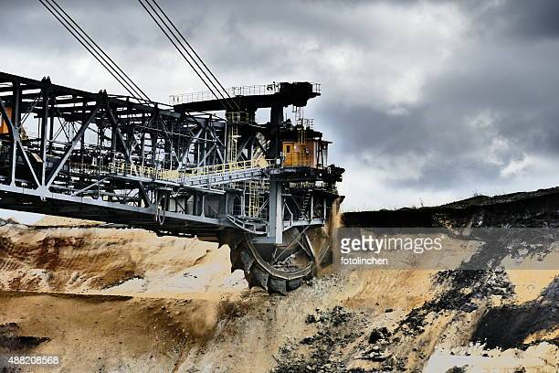Bucket wheel excavator auf Braunkohle mine