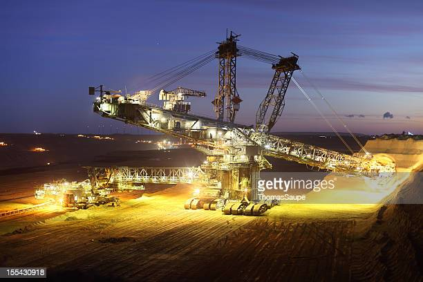 bucket wheel excavator - coal mining stock photos and pictures