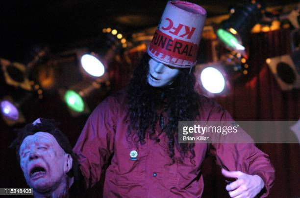 Buckethead during Buckethead in Concert at BB King's Blues Club in New York City March 23 2006 at BB King's Blues Club in New York City New York...