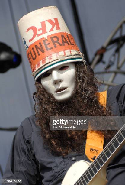 Buckethead of Praxis performs during the Vegoose Music Festival at Sam Boyd stadium on October 28, 2006 in Las Vegas, Nevada.