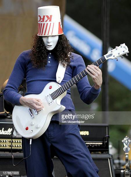 Buckethead performs as part of the Hardly Strictly Bluegrass Festival in Golden Gate Park on October 1 2011 in San Francisco California