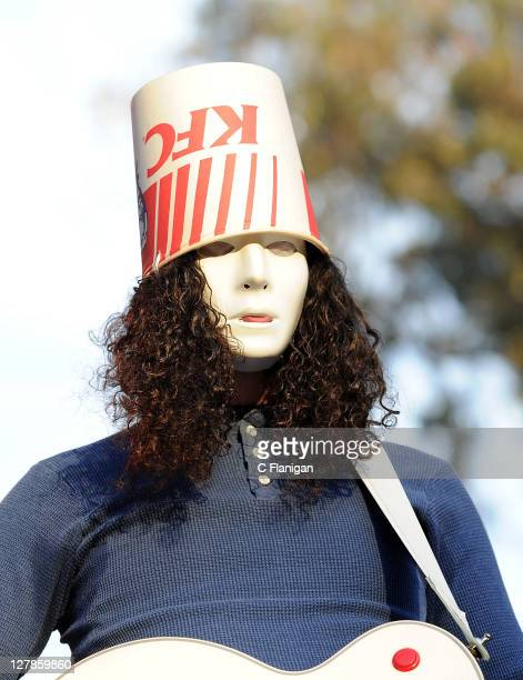 Buckethead performs during the 2011 Hardly Strictly Bluegrass Festival at Golden Gate Park on October 1 2011 in San Francisco California