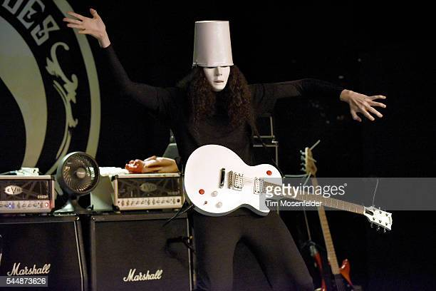 Buckethead performs in support of his 'Happy Birthday MJ 23' release at Ace of Spades on July 3 2016 in Sacramento California