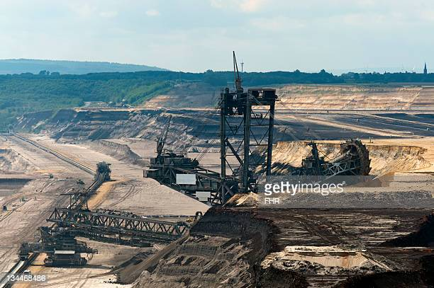Bucket-wheel excavator in the Garzweiler open pit, North Rhine-Westphalia, Germany, Europe
