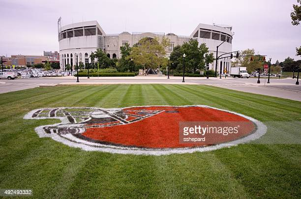 buckeye stadium at the ohio state university - ohio state football stock photos and pictures