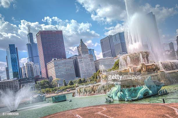 Buckingham Fountain at Grant Park in Chicago, Illinois