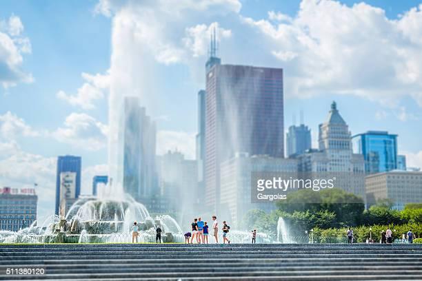 Buckingham Fountain at Grant Park in Chicago, Illinois
