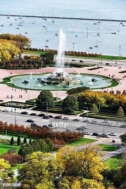Buckingham Fountain in October, Chicago