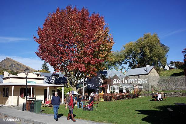 Buckingham Green in Arrowtown main street during AutumnArrowtown is the much visited historic 4season southern hemisphere holiday destination located...