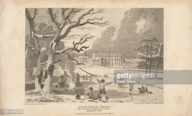 Buckingham House, St. James' Park, Print made by John Burnet, 1784–1868, British, after John Burnet, 1784–1868, British, Published by Vernor & Hood,...
