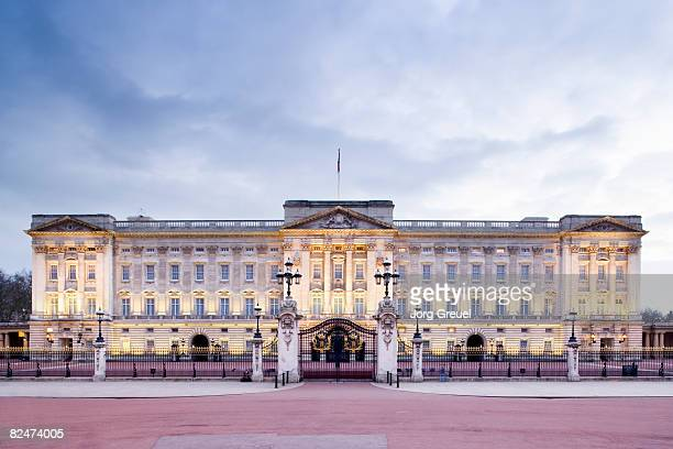 Buckingham Palace at dusk