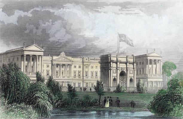Buckingham Palace before the addition of Edward Blore's...