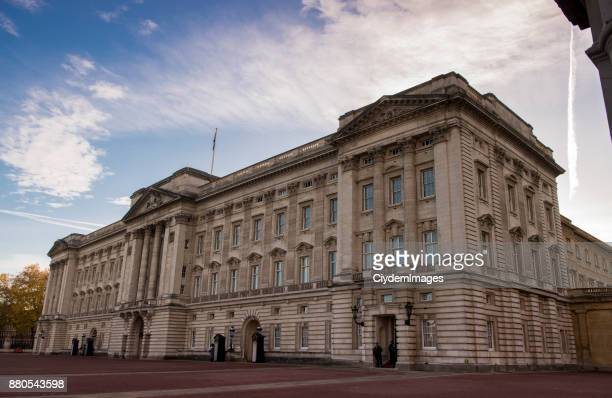buckingham palace during daytime in london, uk - british royalty stock pictures, royalty-free photos & images