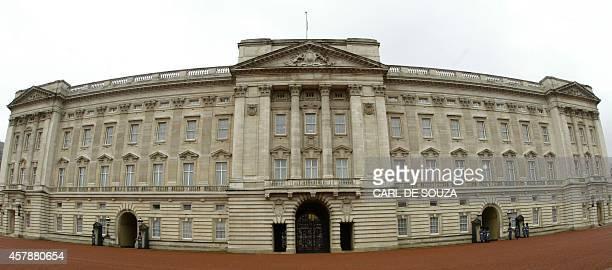Buckingham Palace in London 11 February 2005 AFP PHOTO/CARL DE SOUZA