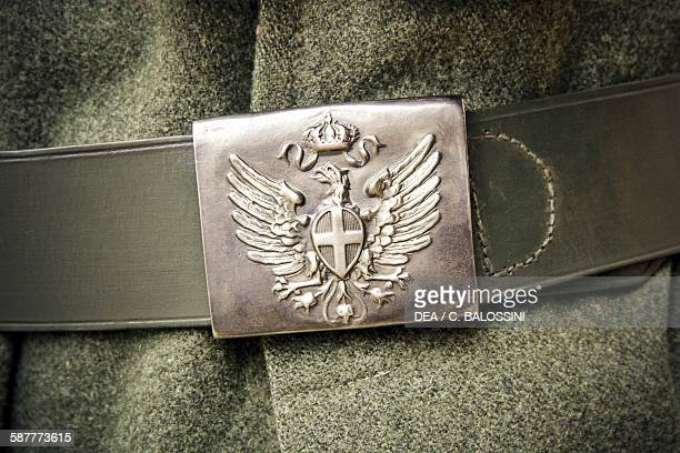 Buckle with Savoy eagle detail of an Alpini officer's belt Italian front First World War 20th century Historical reenactment