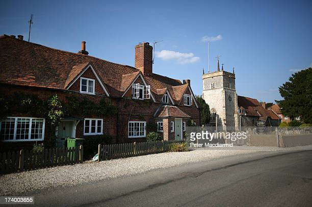 Bucklebury Village home to the family of The Duchess of Cambridge on July 18 2013 in Bucklebury England The United Kingdom is preparing for the birth...