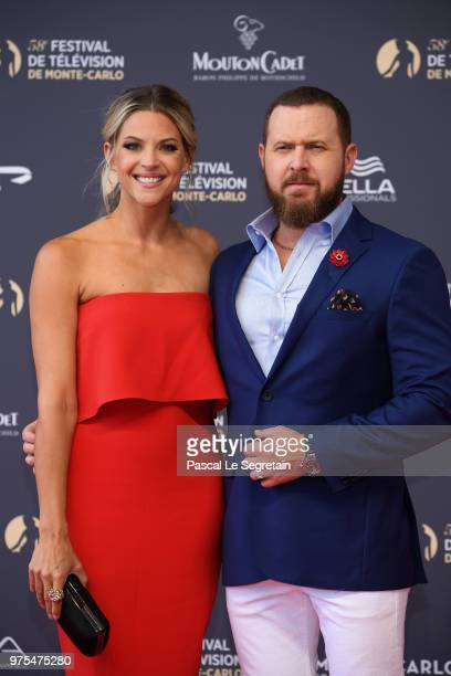 A J Buckley and Abigail Ochse attend the opening ceremony of the 58th Monte Carlo TV Festival on June 15 2018 in MonteCarlo Monaco