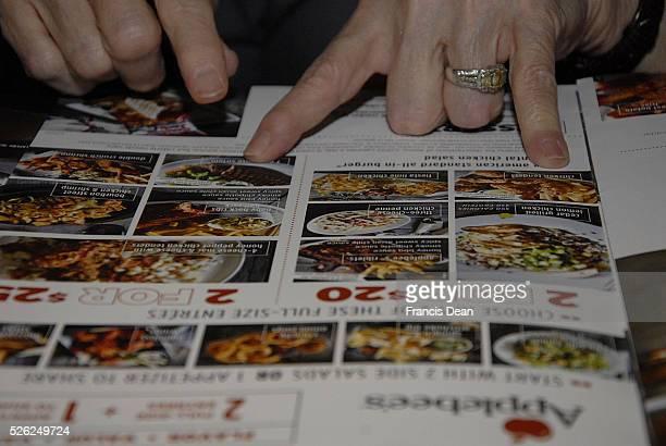 Buckley/Washington/USA_ 22 January 2016 _Food menu at Applebees restaurant