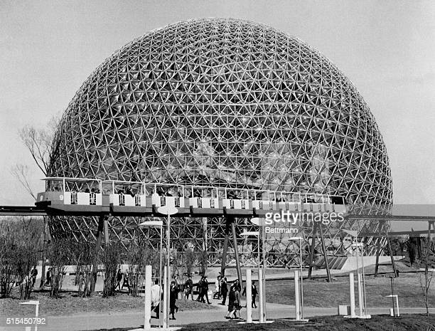 Buckminster Fuller's geodesic dome which served as the Unites States pavilion at the 1967 World's Fair in Montreal