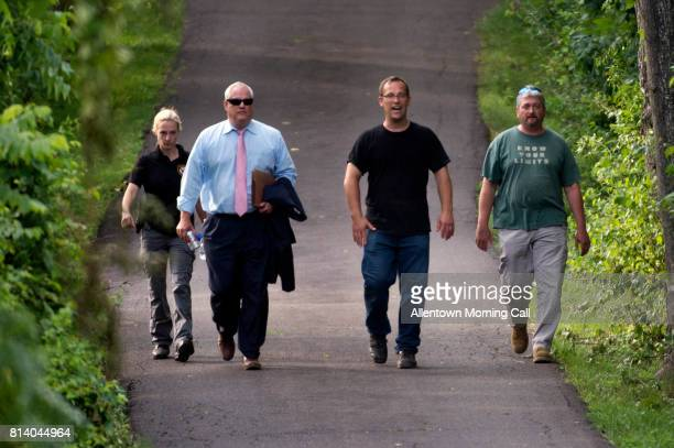Bucks County District Attorney Matthew Weintraub leaves the property in Bucks County off of Lower York Road in Solebury on Wednesday July 12 2017...