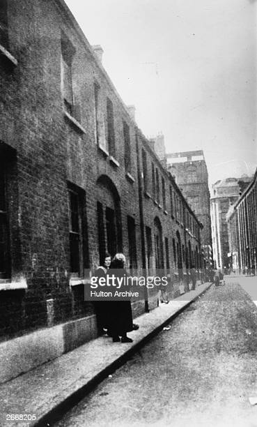 Bucks Row now Durward Street east London where the body of Mary Ann Nichols victim of Jack the Ripper was found lying across the gutter