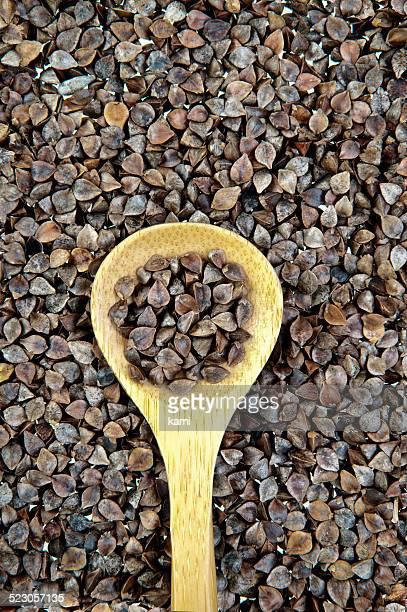 Buckwheat and a spoon