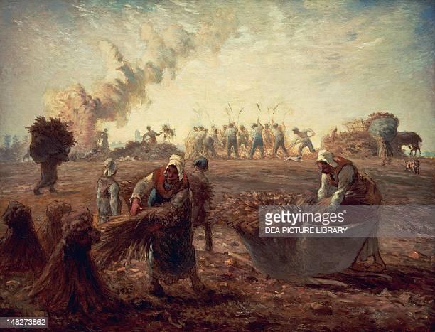 Buckwheat harvest 18681874 by JeanFrancois Millet pastel on paper 76x98 cm Boston Museum Of Fine Arts