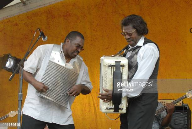 Buckwheat Zydeco during 37th Annual New Orleans Jazz Heritage Festival Presented by Shell Buckwheat Zydeco at New Orleans Fair Grounds Race Course in...
