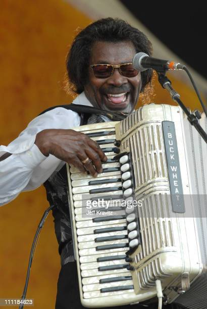 Buckwheat Zydeco during 37th Annual New Orleans Jazz & Heritage Festival Presented by Shell - Buckwheat Zydeco at New Orleans Fair Grounds Race...