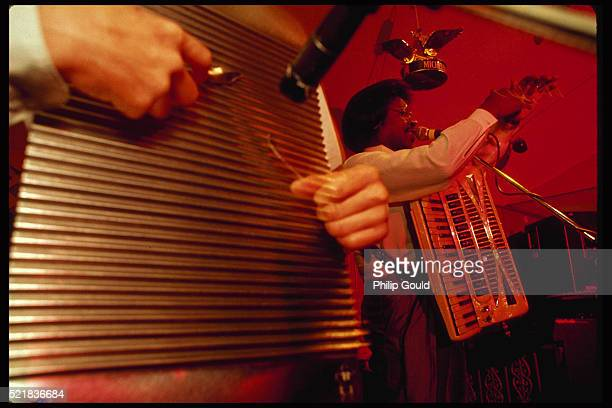 buckwheat zydeco performing at club - accordionist stock pictures, royalty-free photos & images