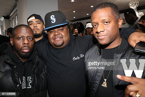 Buckwild, DJ Juanyto, Fred The Godson, and DJ Nasty attend The Grand Opening Of Fat Joe's Sneaker Boutique and Gallery at UPNYC on November 5, 2016...