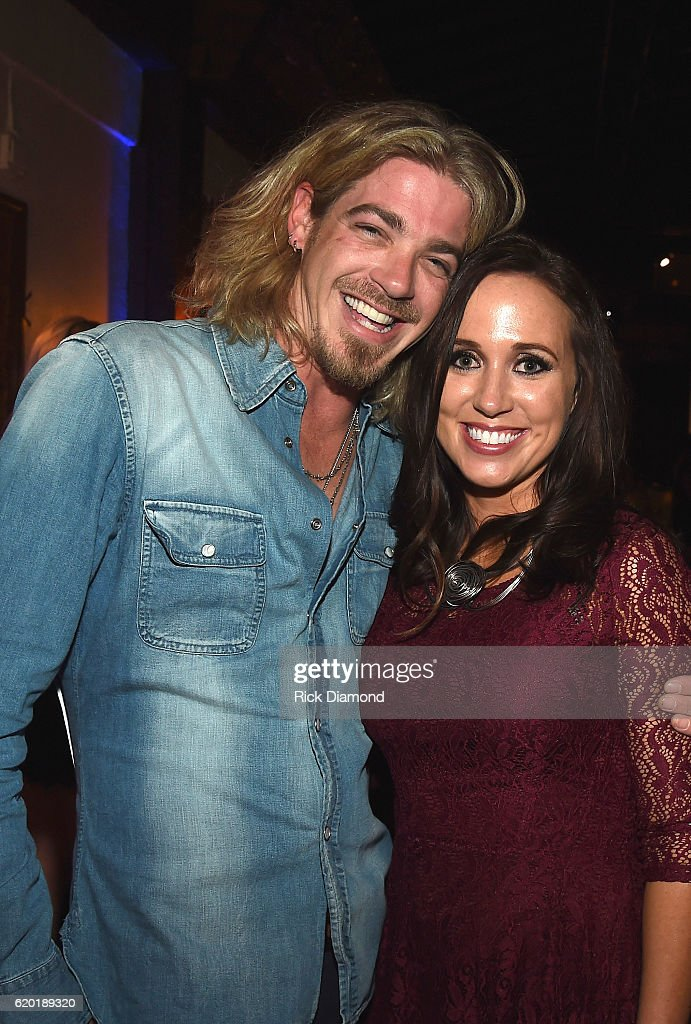 Bucky Covington and publicist Katherine Cook attend the Folds of Honor/CMS Nashville Songwriter of the Year Party during the 50th annual CMA Awards week on November 1, 2016 in Nashville, Tennessee.