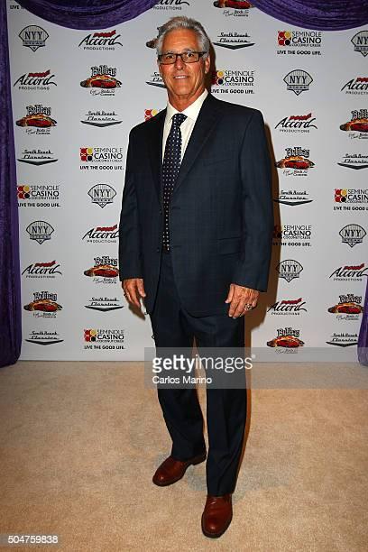 Bucky Dent attends as South Beach Classics Unveils Custom 1957 Thunderbird For Bucky Dent at Seminole Casino Coconut Creek on January 12 2016 in...