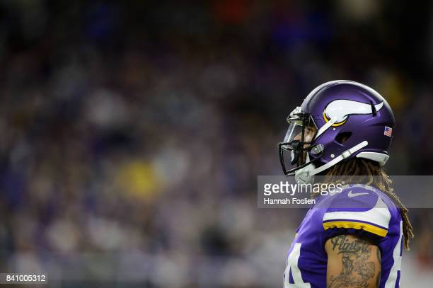 Bucky Hodges of the Minnesota Vikings looks on in the preseason game against the San Francisco 49ers on August 27 2017 at US Bank Stadium in...