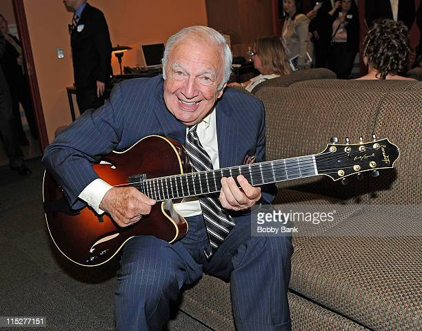 Bucky Pizzarelli attends the 2011 New Jersey Hall of Fame Induction Ceremony at the New Jersey Performing Arts Center on June 5 2011 in Newark New...